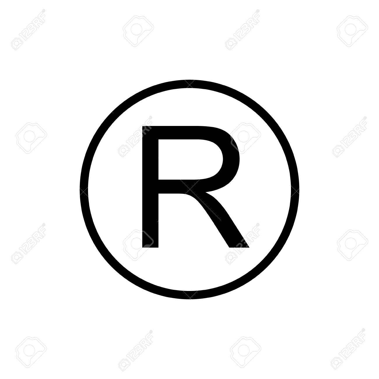 registered trademark sign dark gray icon on transparent background stock vector 84565467