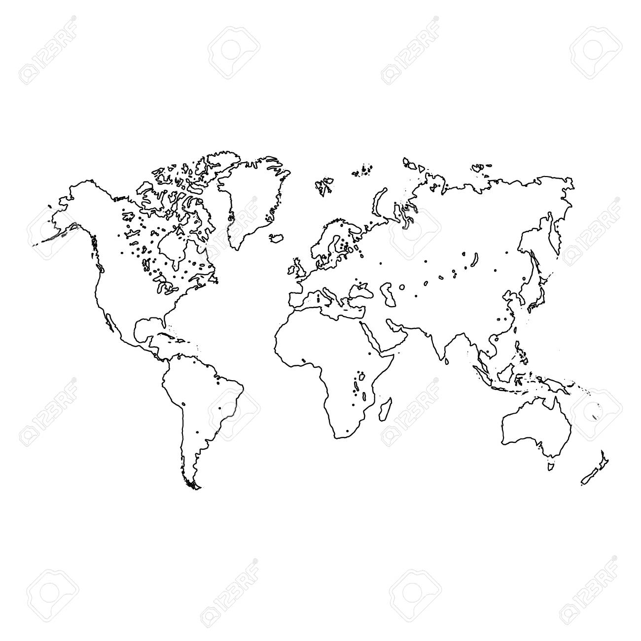 Freehand world map sketch on white background royalty free cliparts freehand world map sketch on white background stock vector 84358822 gumiabroncs Image collections