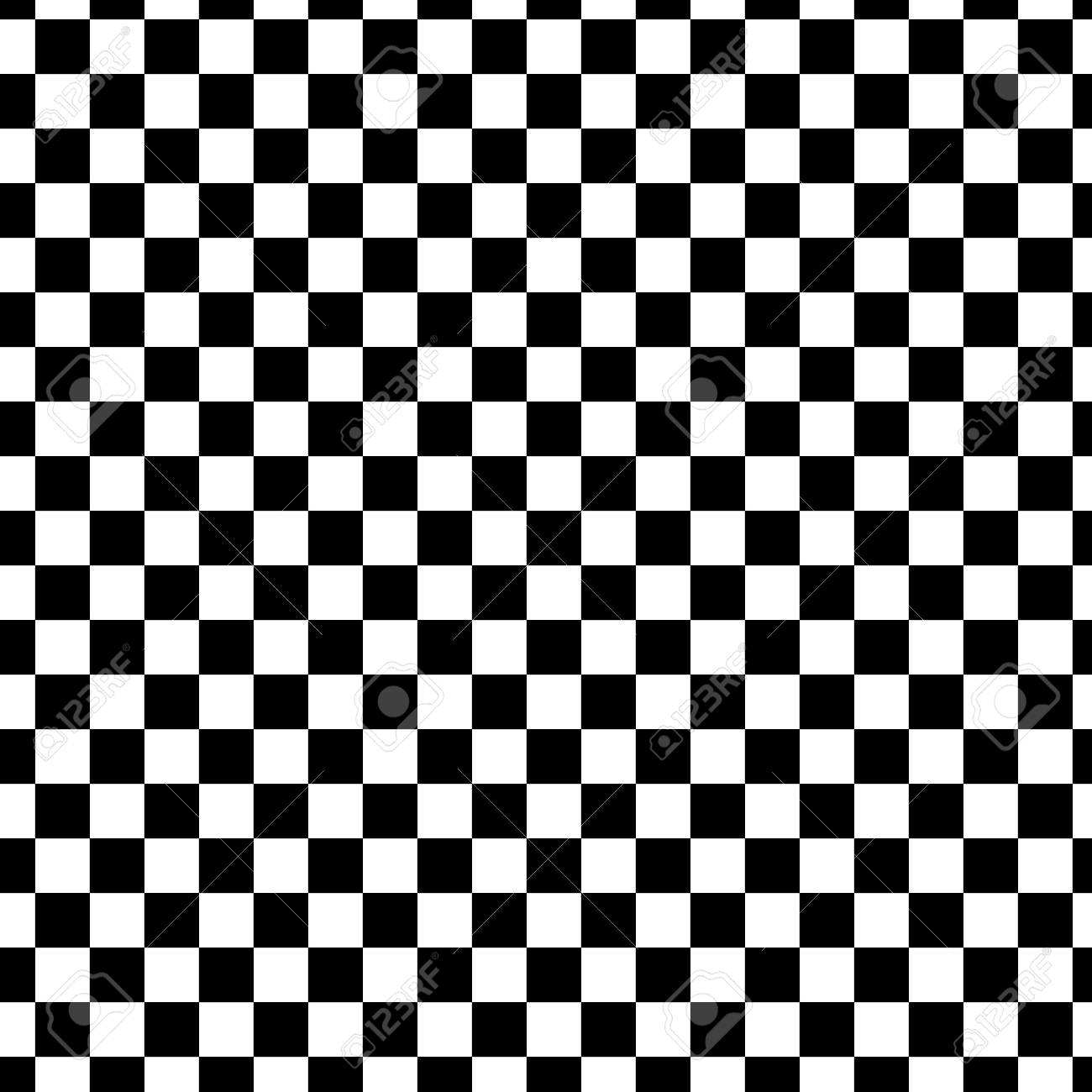 Black And White Racing Checkered Pattern Background Seamless Tile Stock Vector