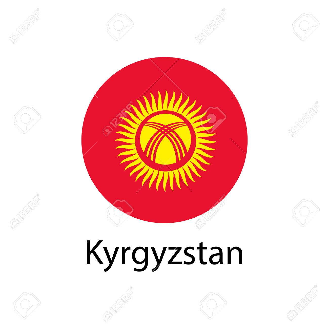 国旗 キルギス