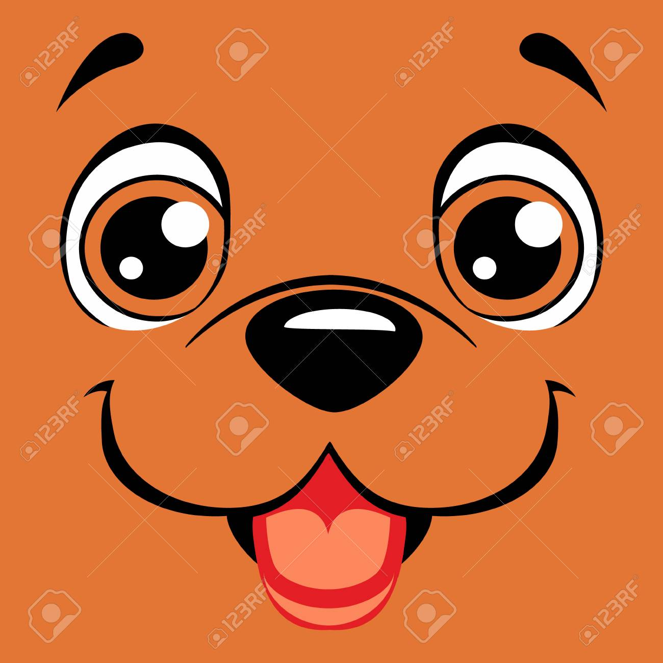 Cartoon Face Happy Dog Royalty Free Cliparts Vectors And Stock Illustration Image 87685871