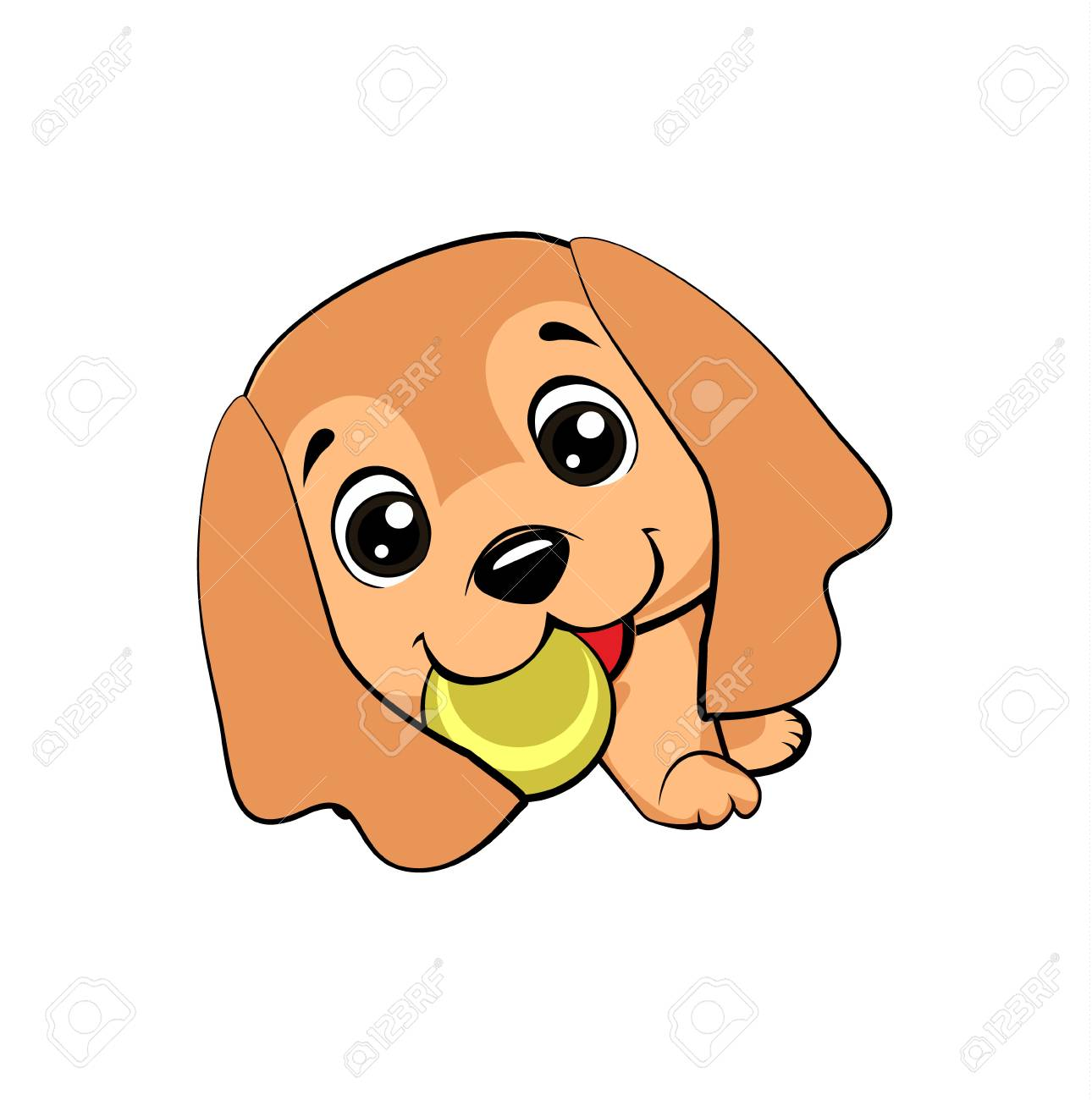 English Cocker Spaniel Dog Vector Cartoon Style Drawing Of A Royalty Free Cliparts Vectors And Stock Illustration Image 108408126