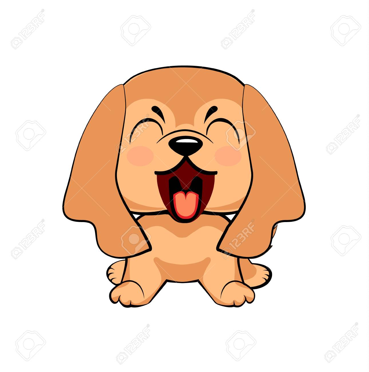 English Cocker Spaniel Dog Puppy Character With Open Mouth Royalty Free Cliparts Vectors And Stock Illustration Image 108408073