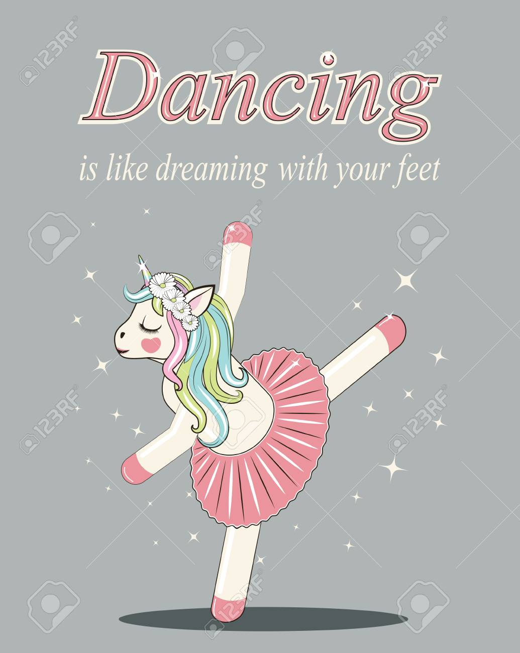 bb060ae7e Cute Unicorn ballerina. Can be used for baby t-shirt print, fashion print