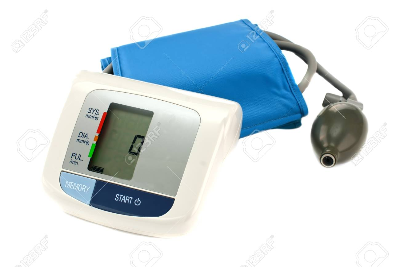 Medical instrument for measuring pressure on a white background Stock Photo - 13027774