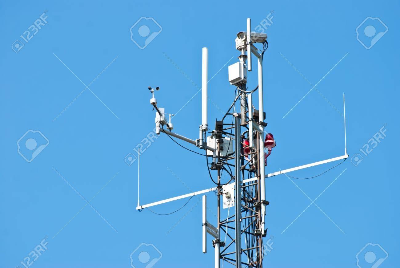 Surveillance,antenna shot at the shipyard on the island of Suomenlinna Stock Photo - 13993956