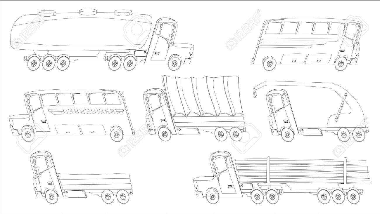Lujoso Páginas Para Colorear De Camiones Patrón - Dibujos Para ...
