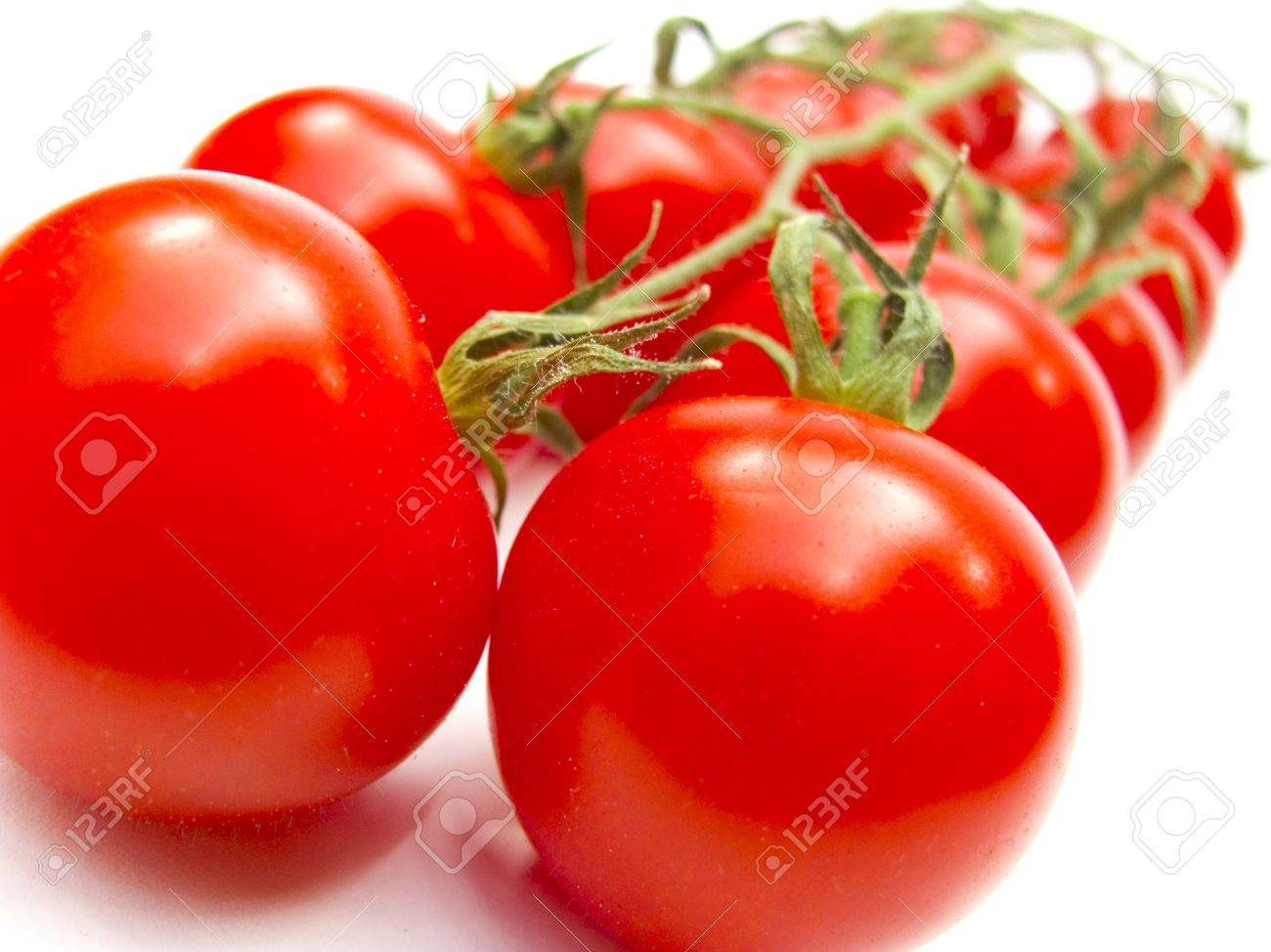 fresh red tomatoes isolated on white background - 9671957
