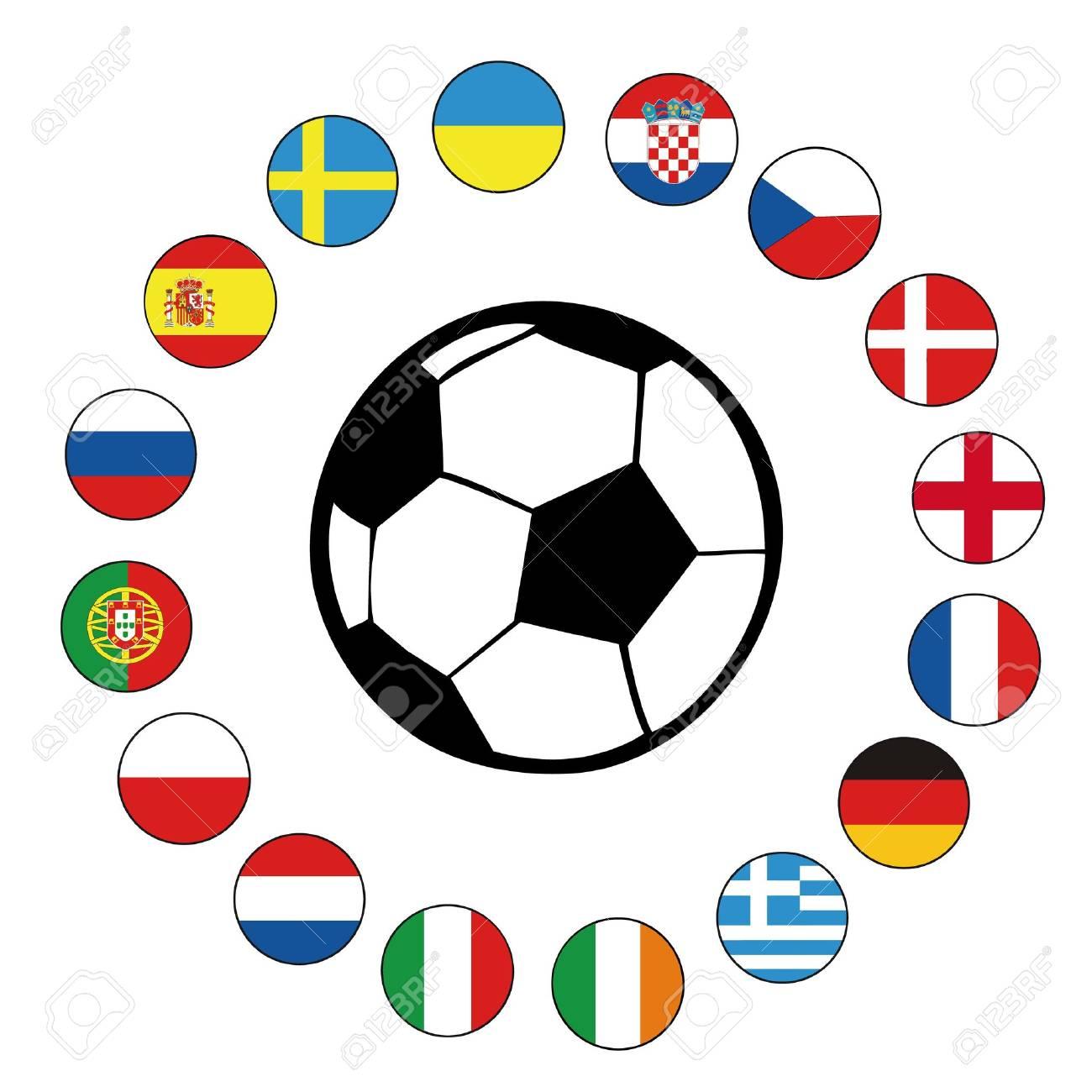 football euro2012 Stock Vector - 13635666