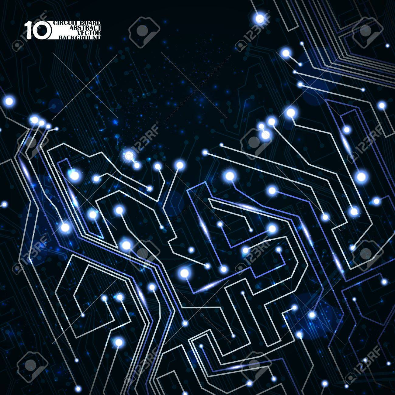 circuit board vector background, technology illustration eps10 Stock Vector - 11656674