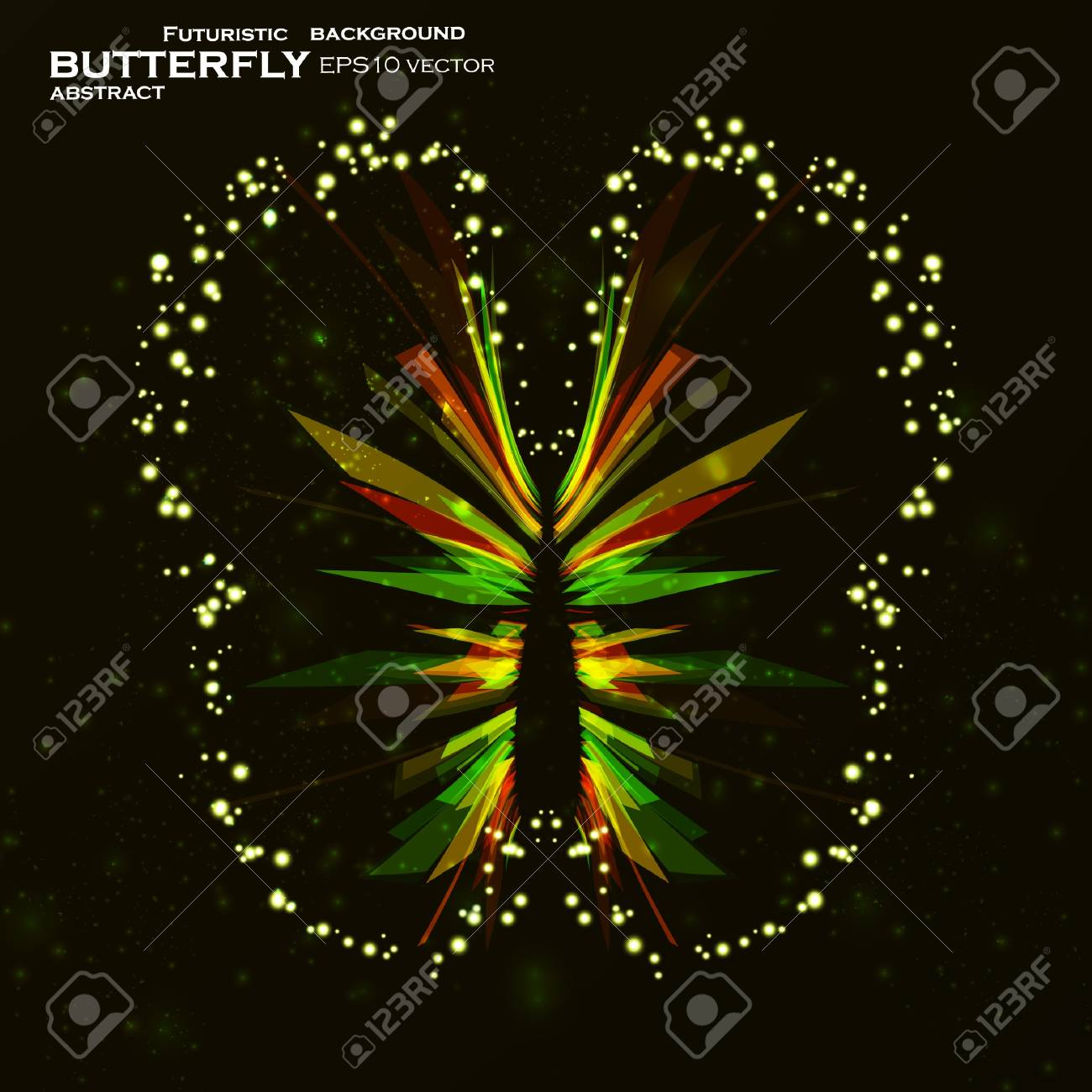 Shiny Butterfly abstract vector, futuristic colorful strip, stylish illustration eps10 Stock Vector - 11759577