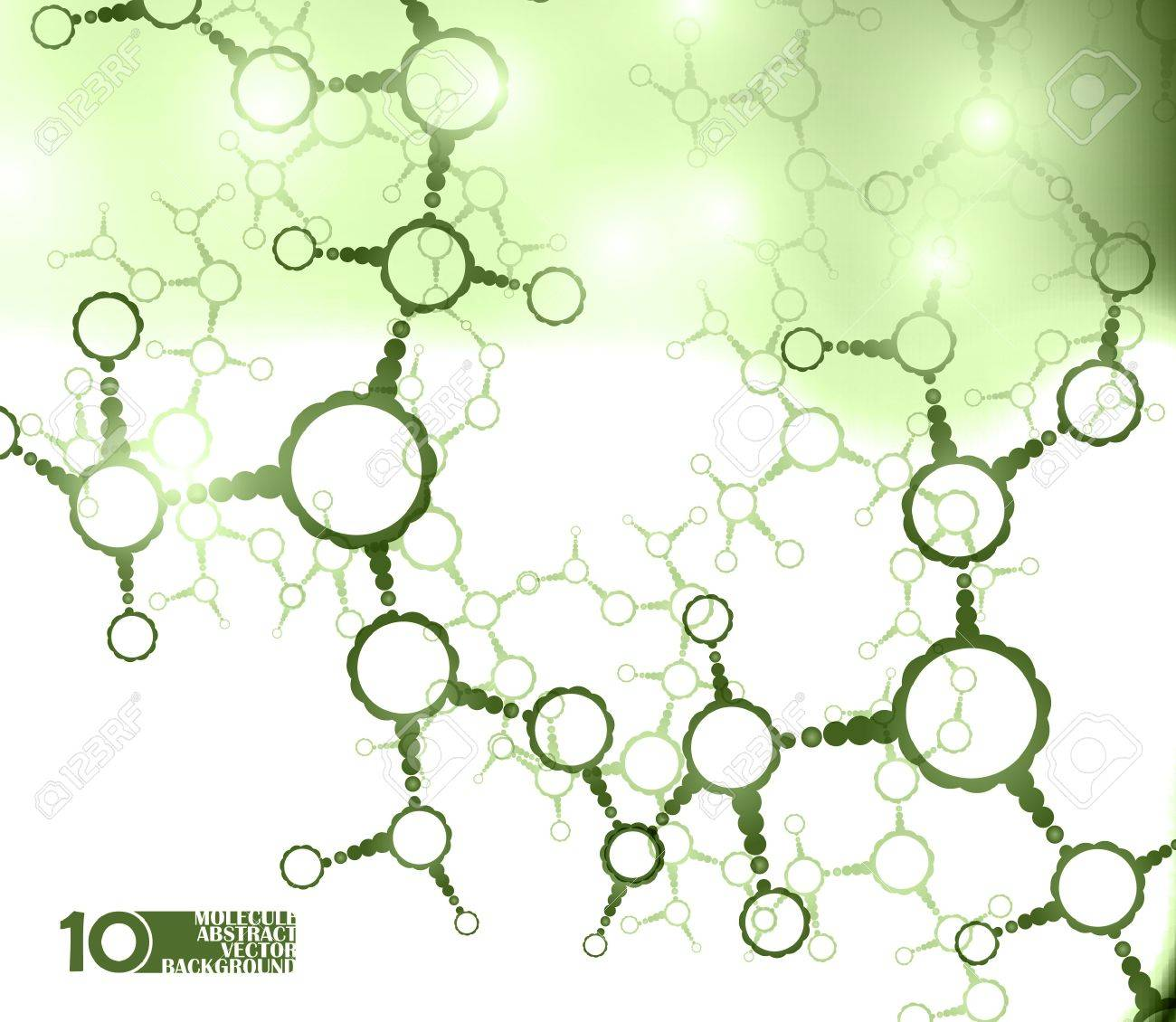 Futuristic dna, abstract molecule, cell illustration eps10 Stock Vector - 11862624