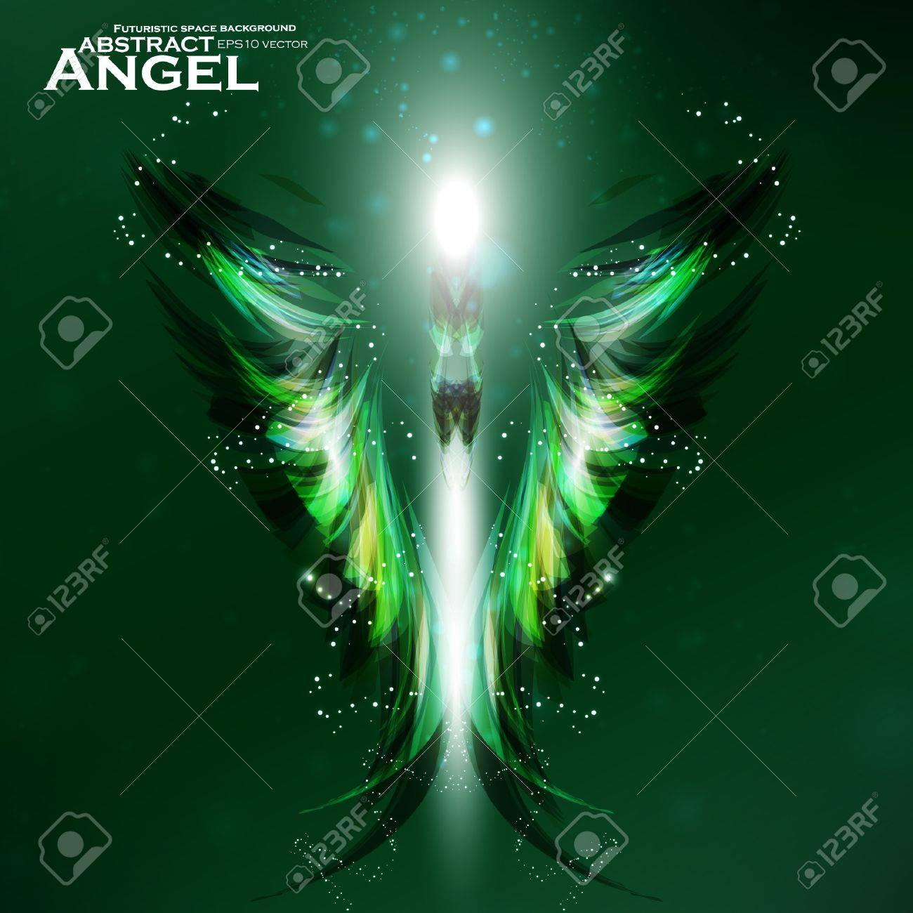 Angel vector futuristic background, wing illustration eps10 Stock Vector - 12084413