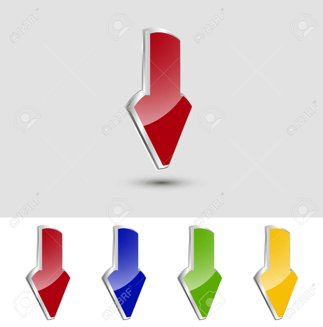 Vector metallic pointer, can to edit and change. Stock Vector - 12084447