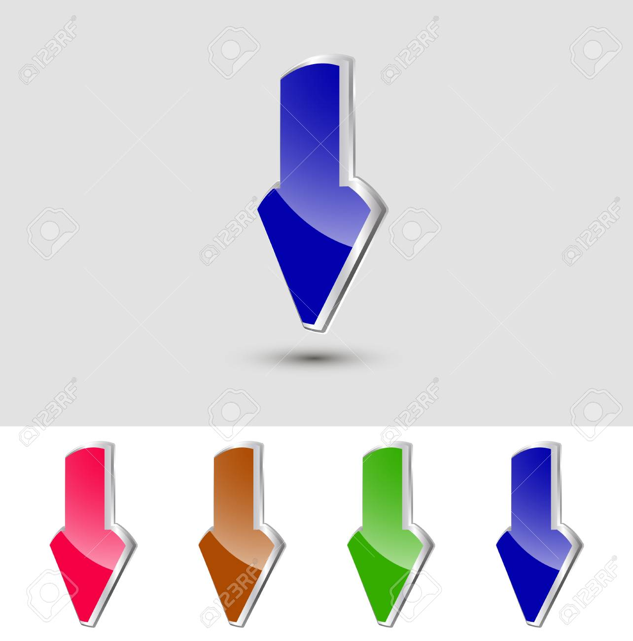 Vector metallic pointer, can to edit and change. Stock Vector - 12084477