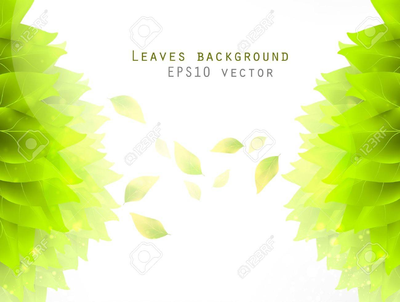 green leaves, eco background eps10 Stock Vector - 12084490