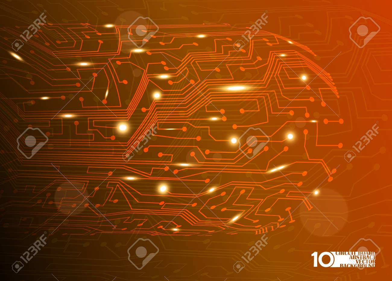 circuit board vector background, technology illustration eps10 Stock Vector - 12084495