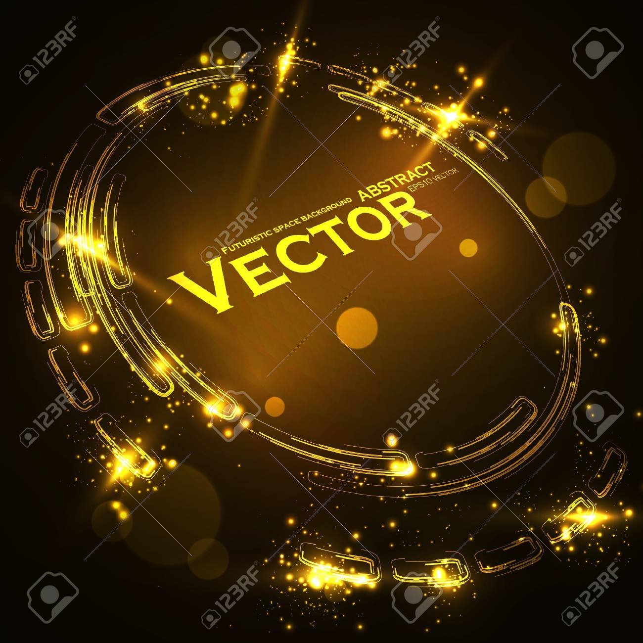 Abstract vector background  Creative dynamic element, shiny space