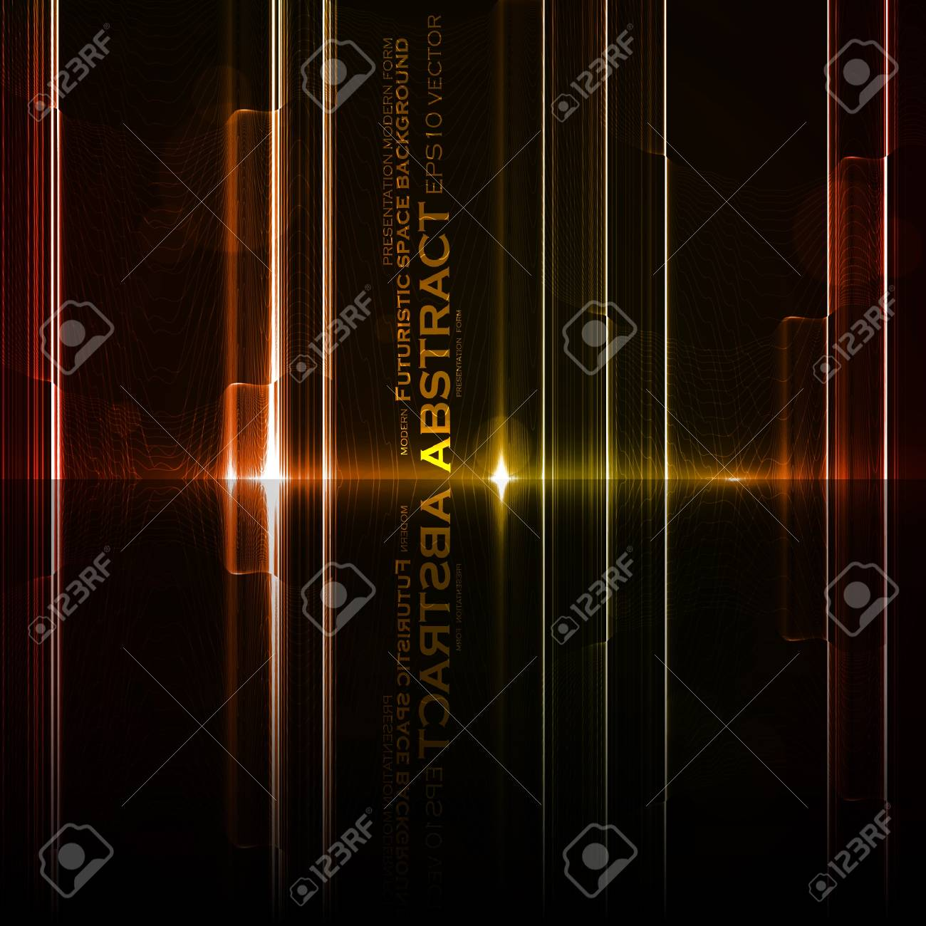 Technology template. Neon abstract, reflection lines vector backgrounds eps10 Stock Vector - 12356336