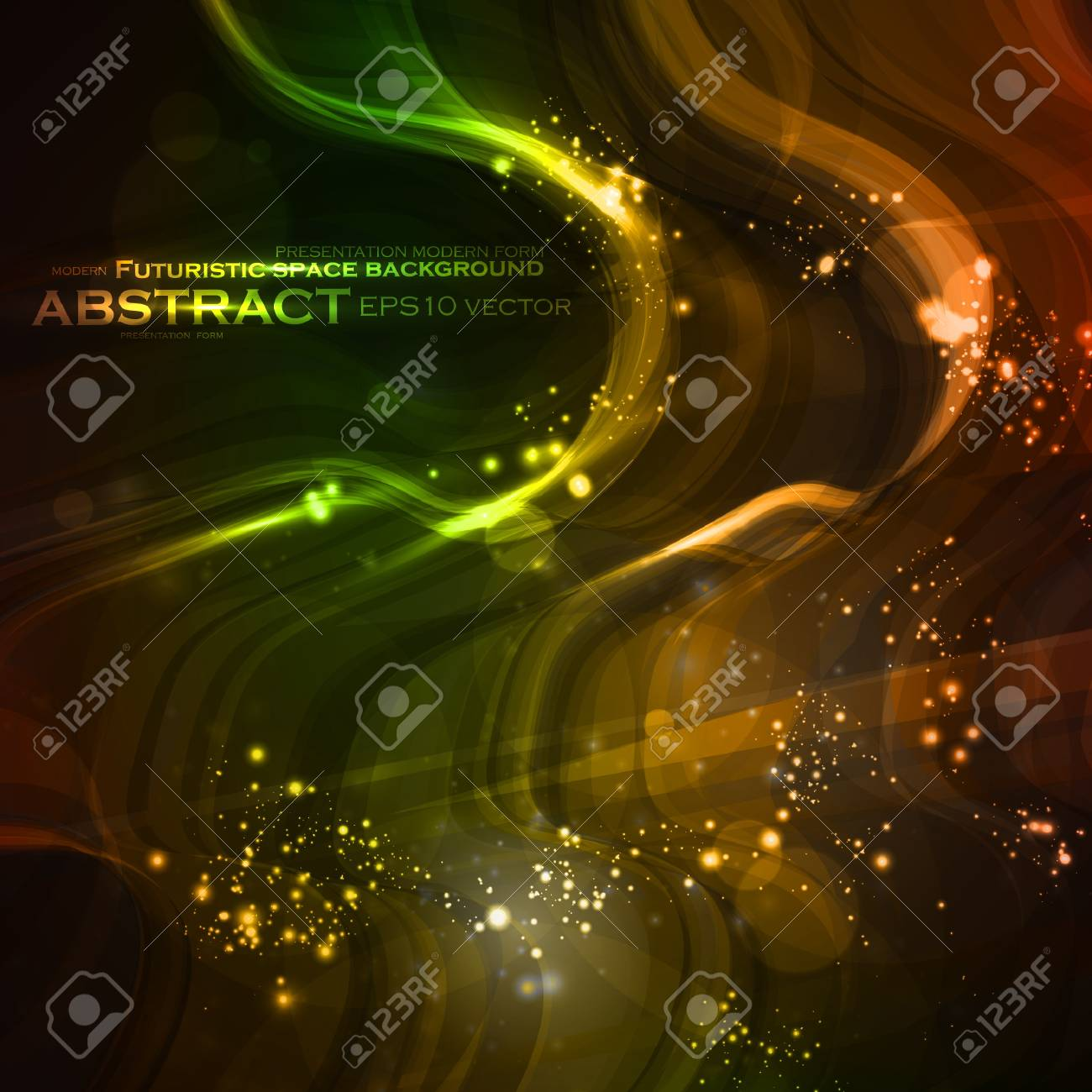 Abstract background, shiny space, futuristic wave illustration Stock Vector - 12498430