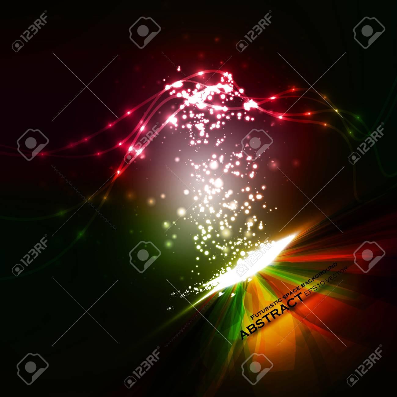 Creative dynamic element,  light lines Illustrations. Stock Vector - 12723707