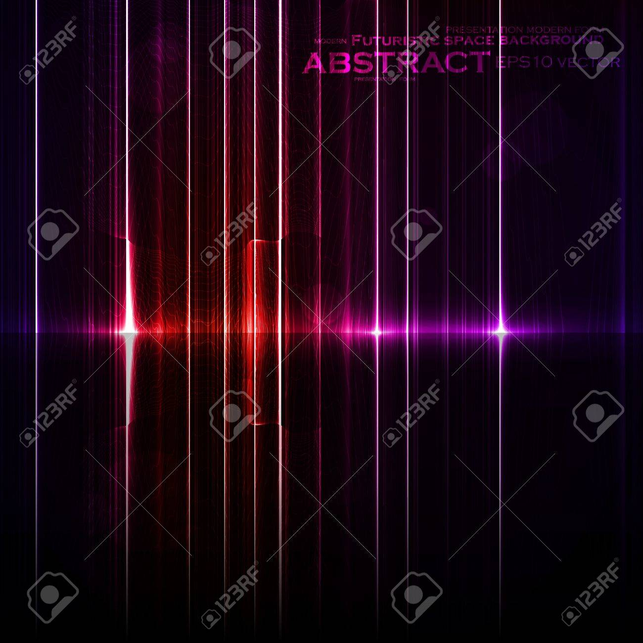 Technology template. Neon abstract, reflection lines backgrounds Stock Vector - 12721880