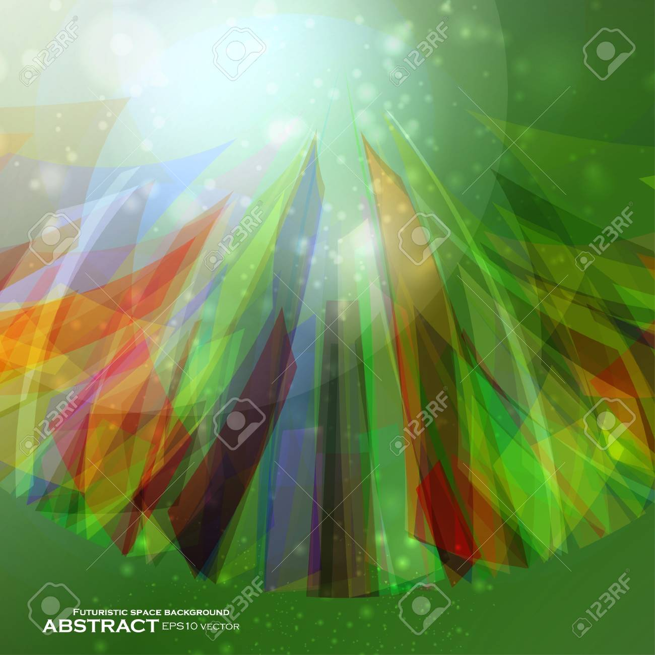 Abstract  background, futuristic colorful strip, stylish illustration Stock Vector - 12723682