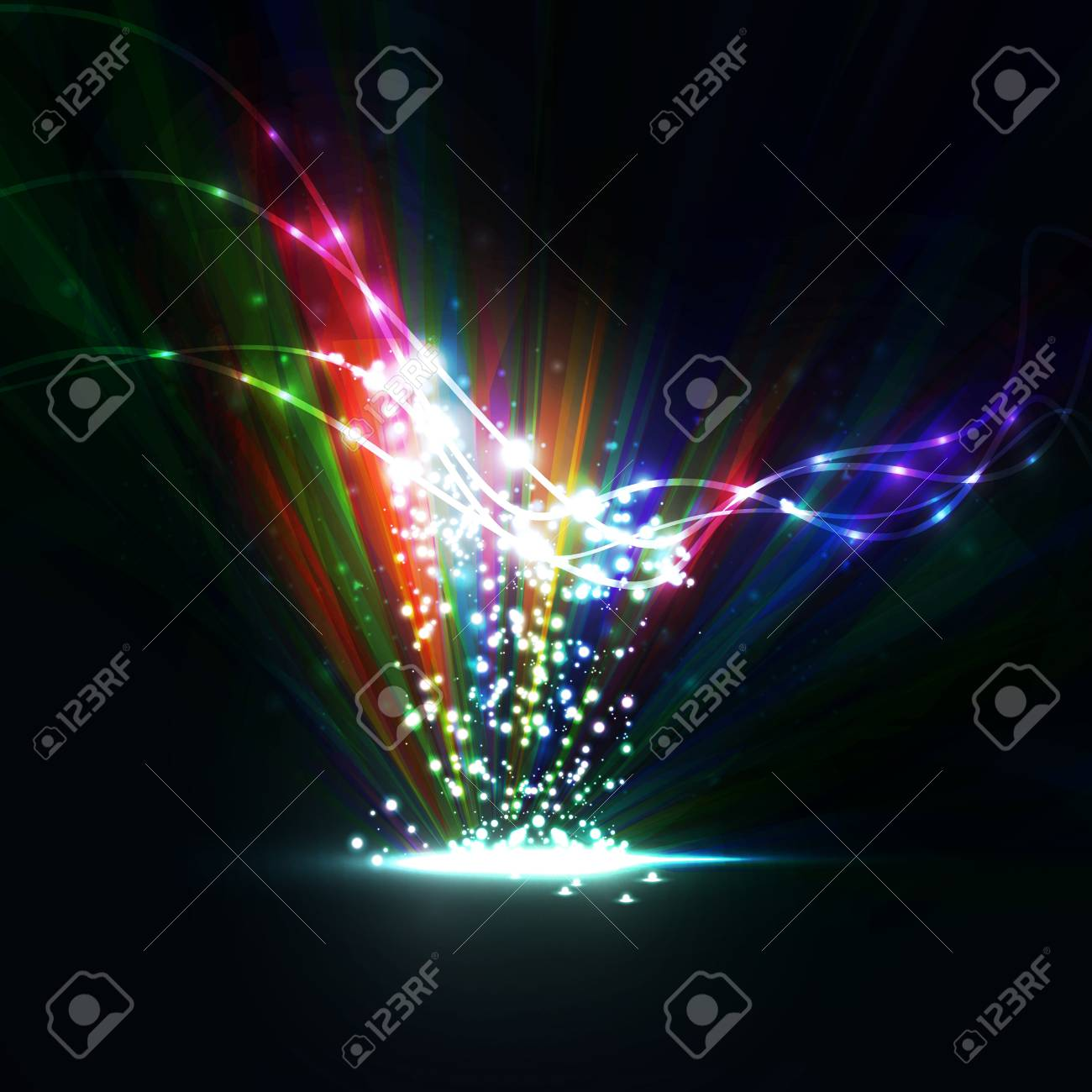 Abstract  Creative dynamic element,  light lines Illustrations Stock Photo - 13195497