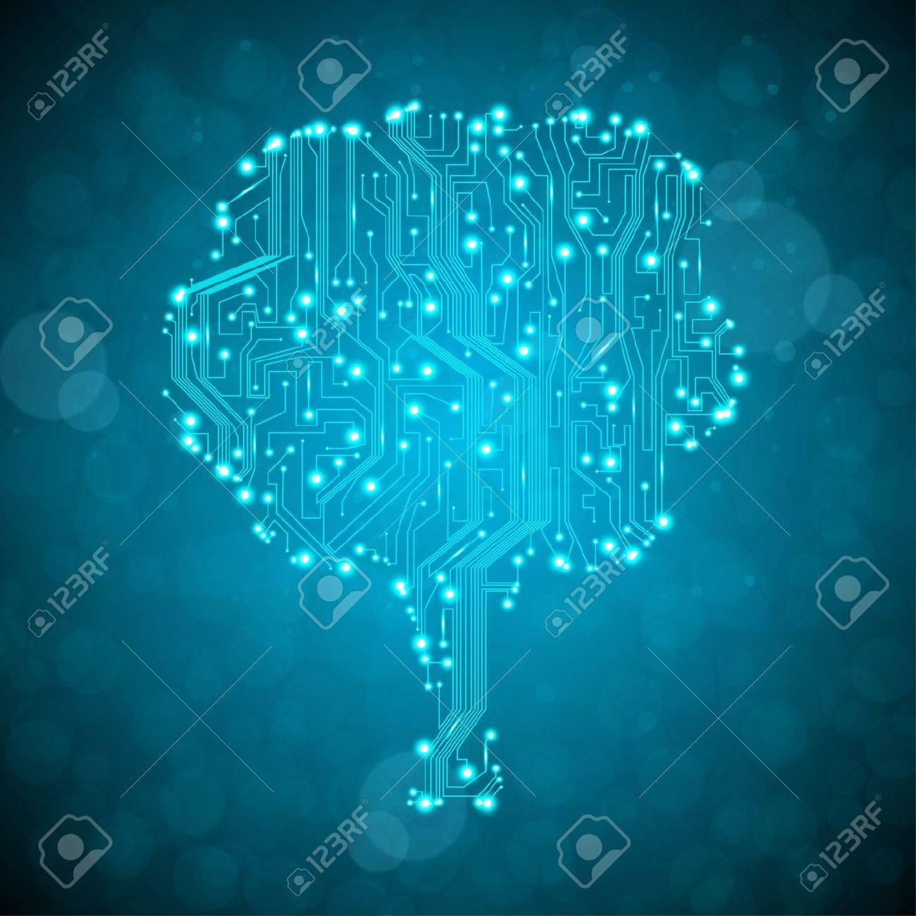 circuit board background, technology illustration, form of tree Stock Illustration - 13229151