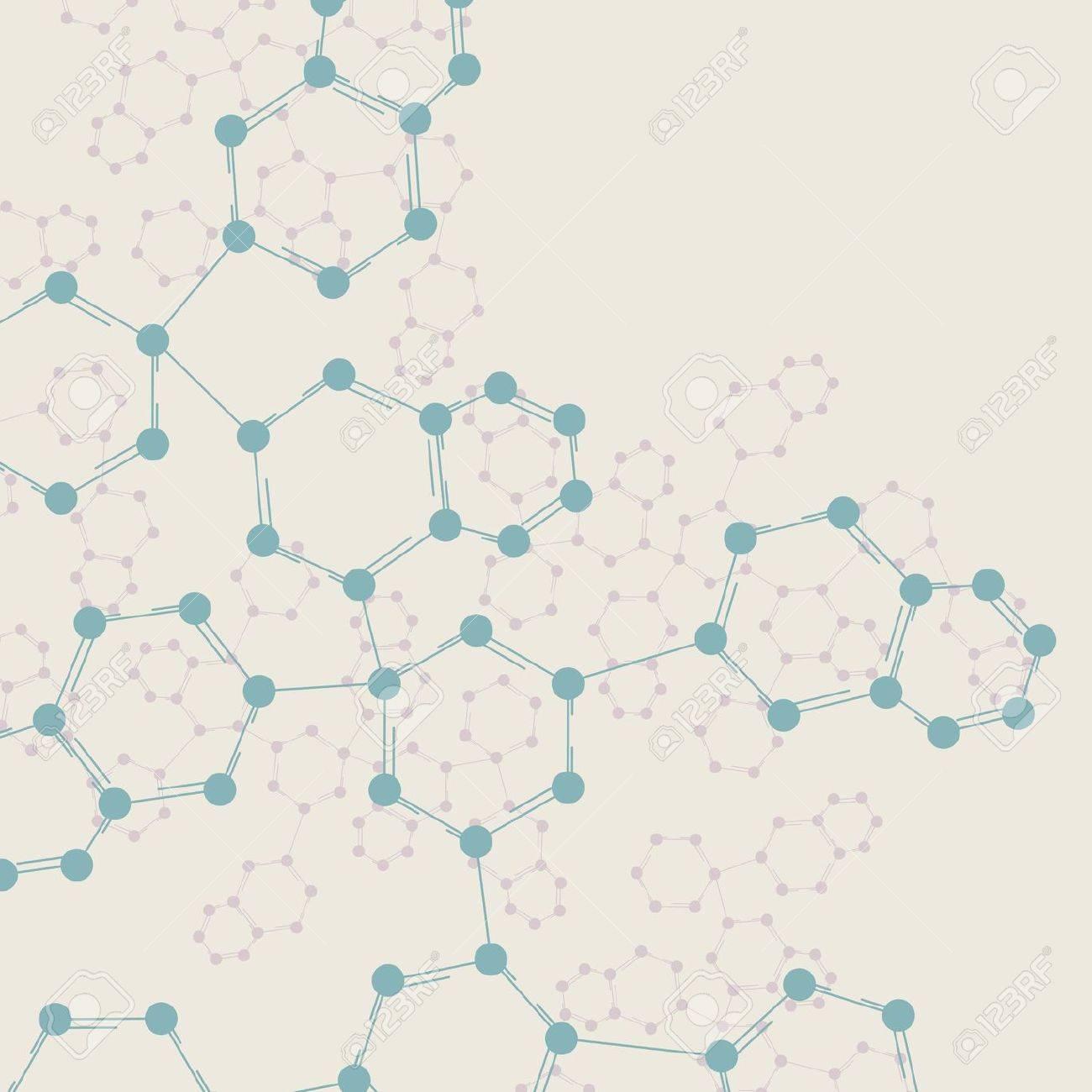 Retro dna, vintage molecule, cell illustration Stock Illustration - 13229111