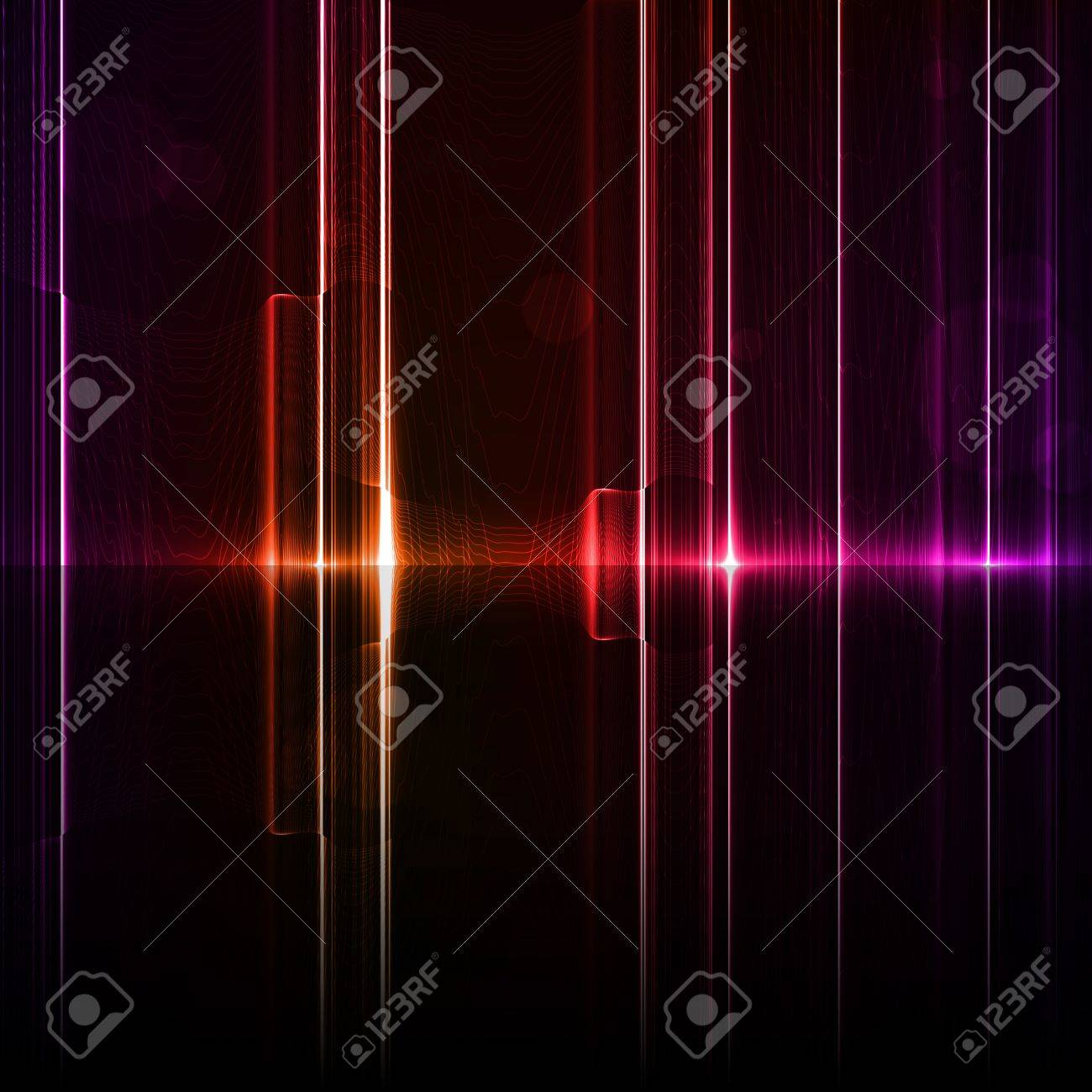 Technology template. Neon abstract, reflection lines backgrounds Stock Photo - 13572111