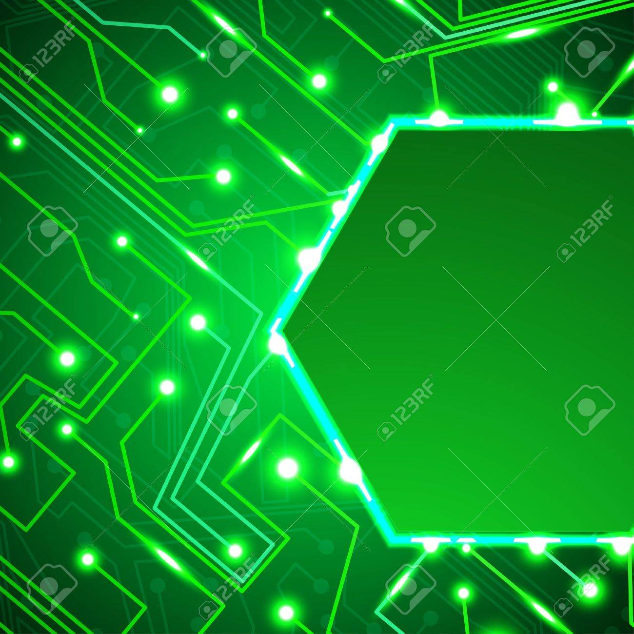 circuit board background, technology illustration Stock Illustration - 15192188