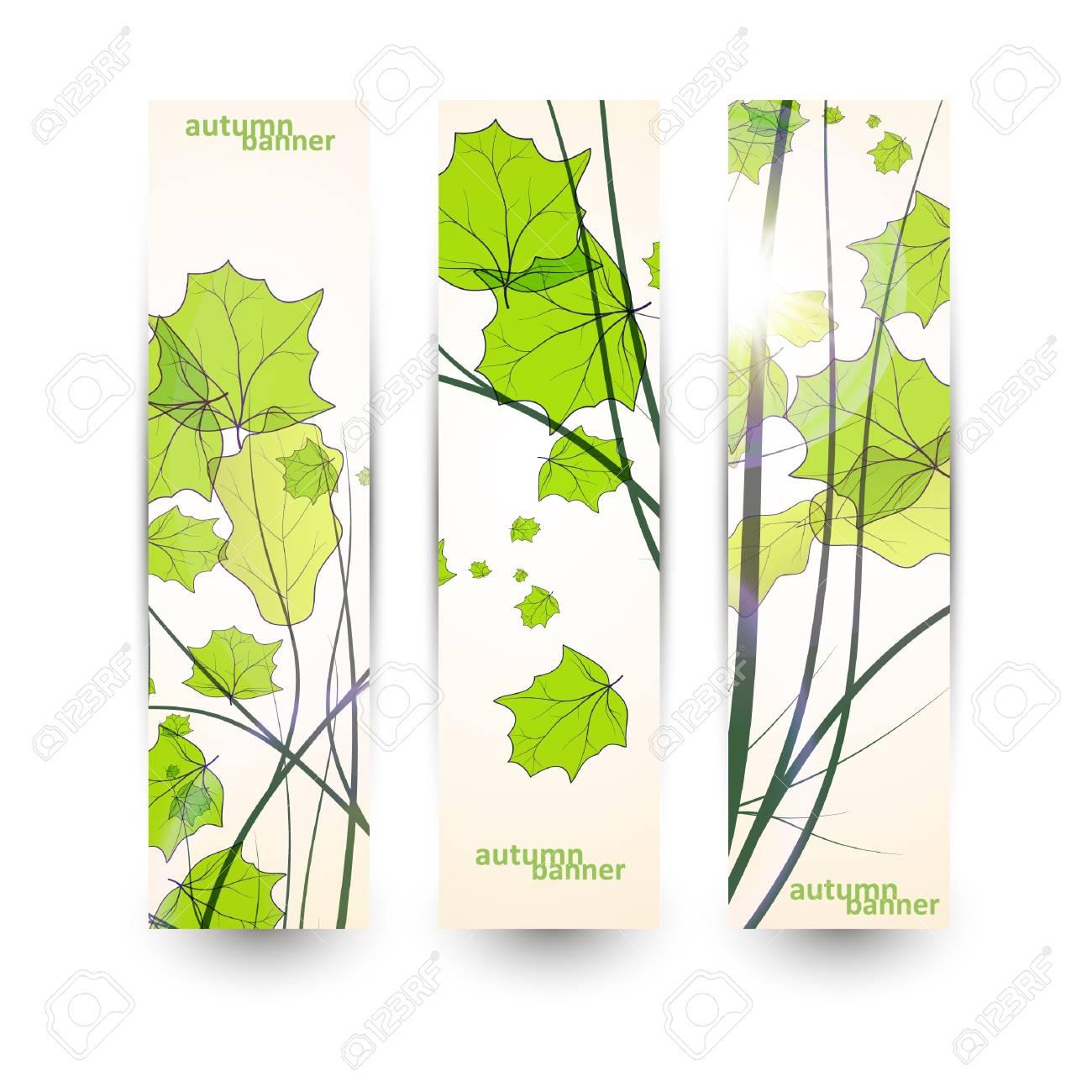 Autumn banner set, vector illustration eps10 Stock Vector - 15192245