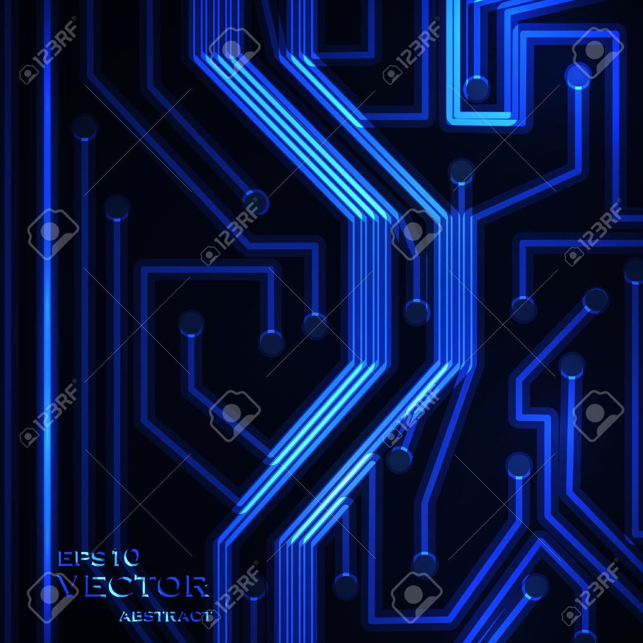 Neon circuit board, abstract  background, technology illustration Stock Vector - 16109715