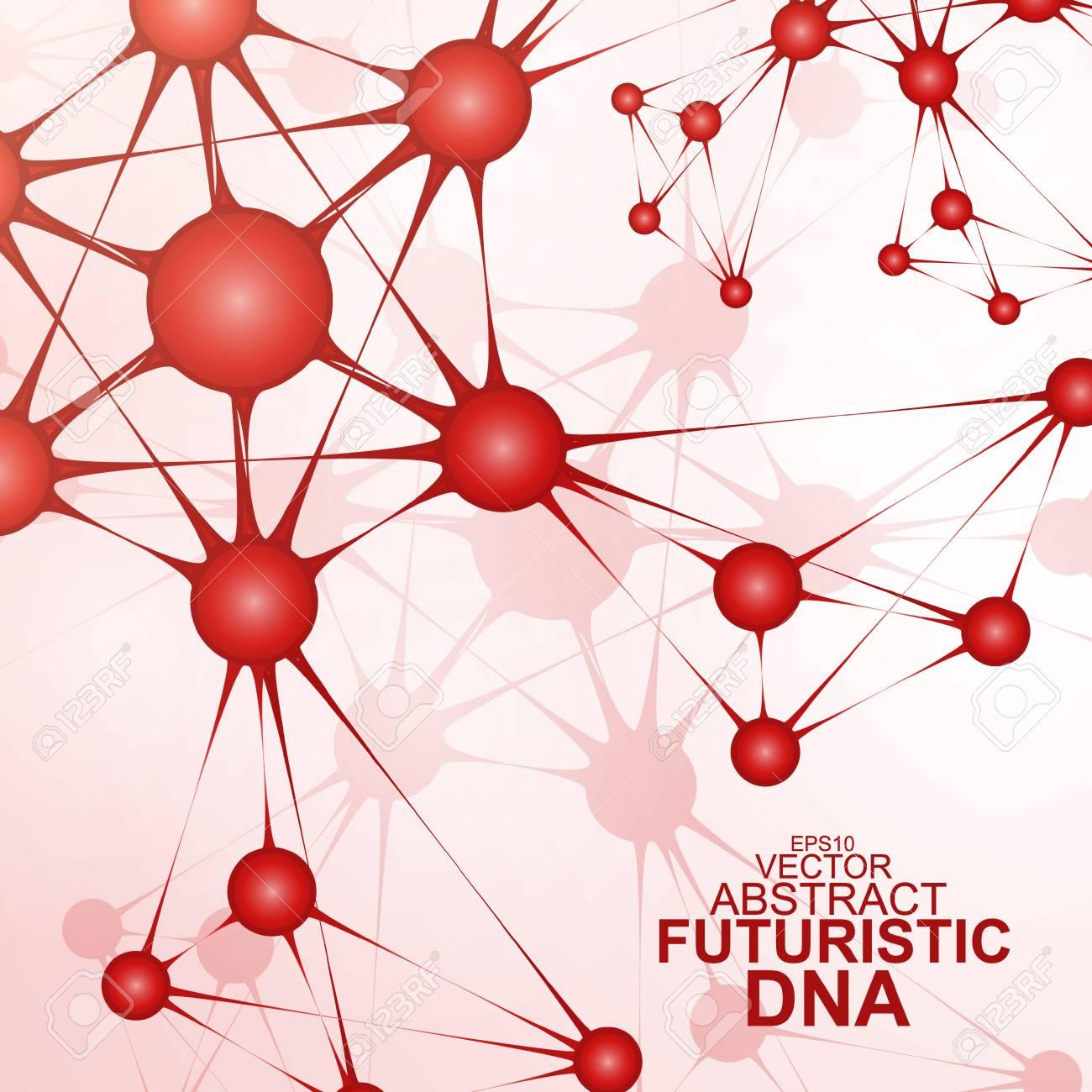 Futuristic dna, abstract molecule, cell illustration Stock Vector - 19354918