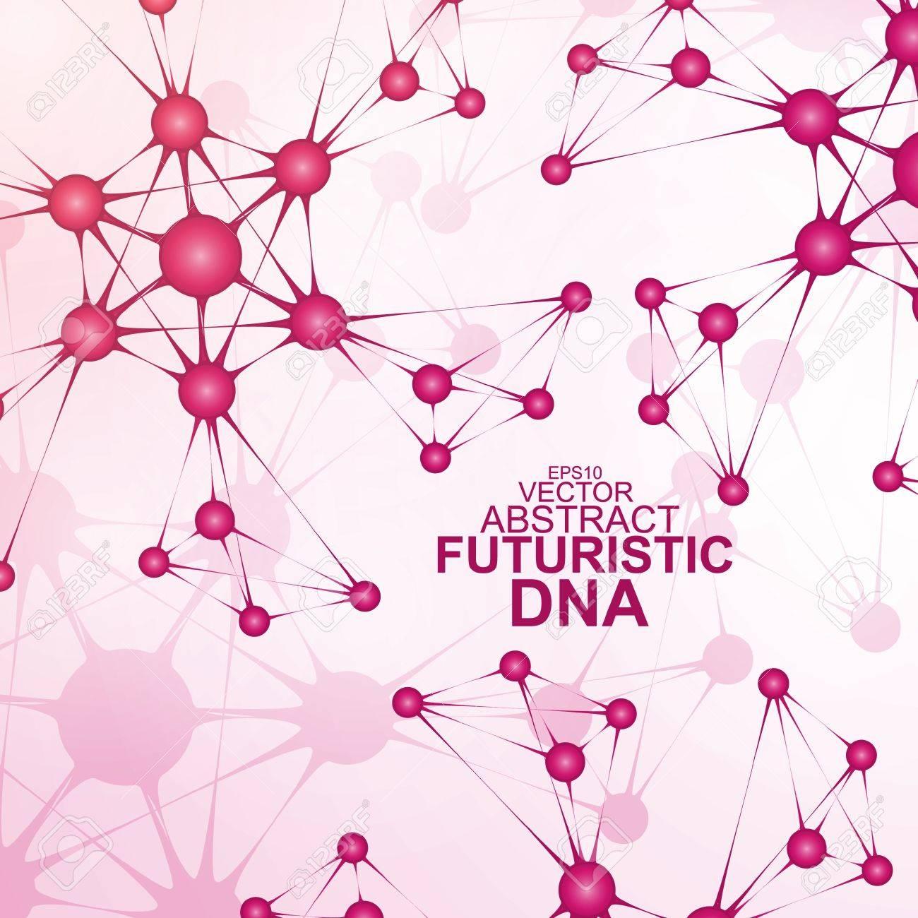 Futuristic dna, abstract molecule, cell illustration Stock Vector - 20725351
