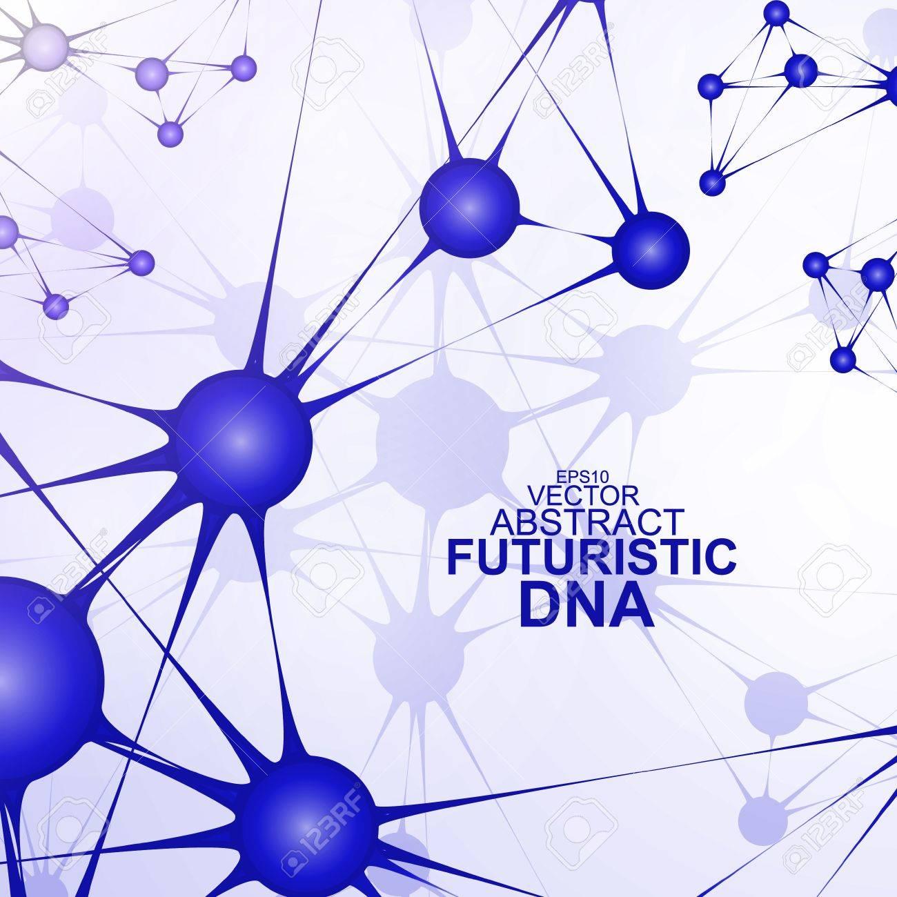 Futuristic dna, abstract molecule, cell illustration Stock Vector - 21160179