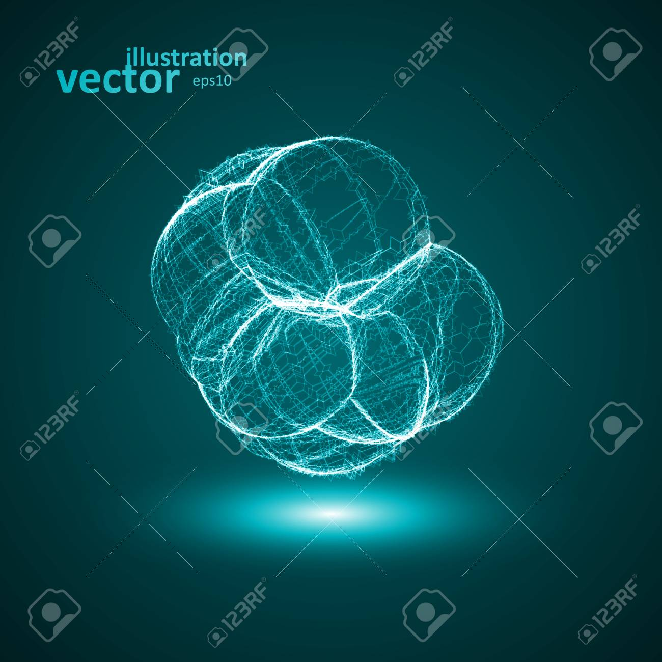 Futuristic illustration - conceptual virus, abstract shape eps10 Stock Vector - 25571656
