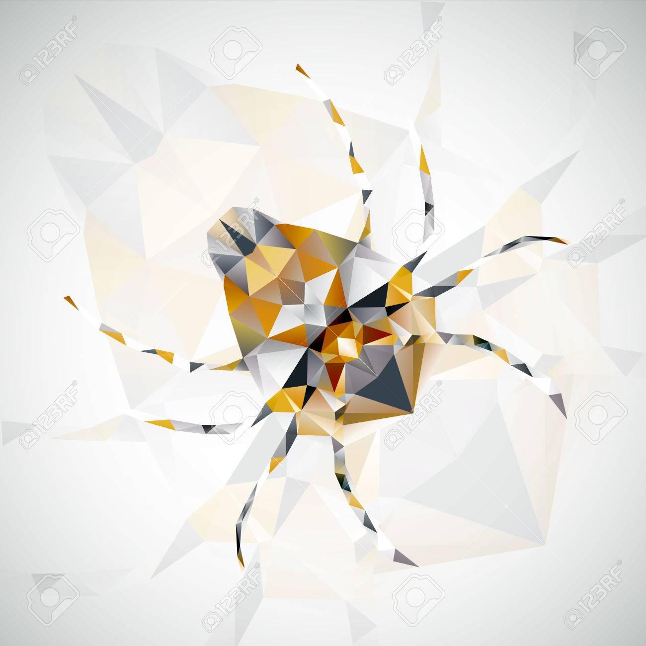 résumé illustration d'araignée, l'art futuriste, banque d'images et