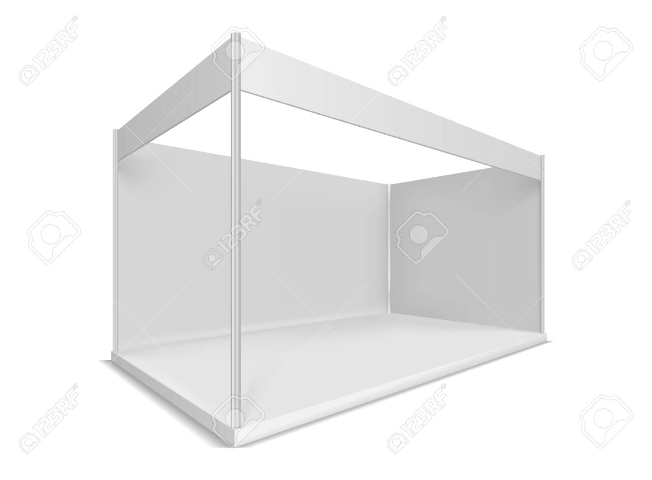 Trade show booth. Illustrations isolated on white background. Graphic concept for your design - 122194663
