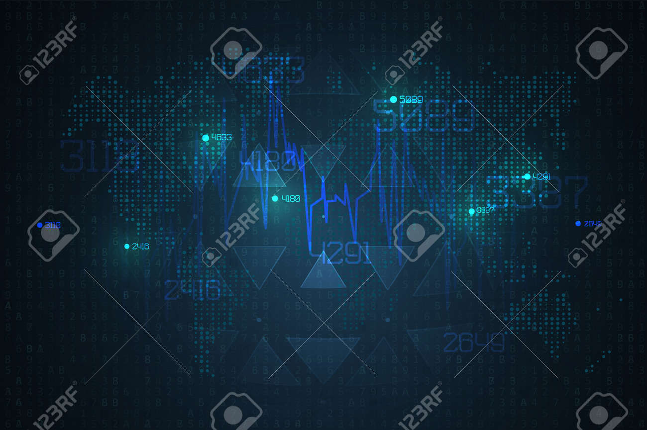 Abstract infographics visualization. Big data code representation. Futuristic network or business analytics. Graphic concept for your design - 129900544