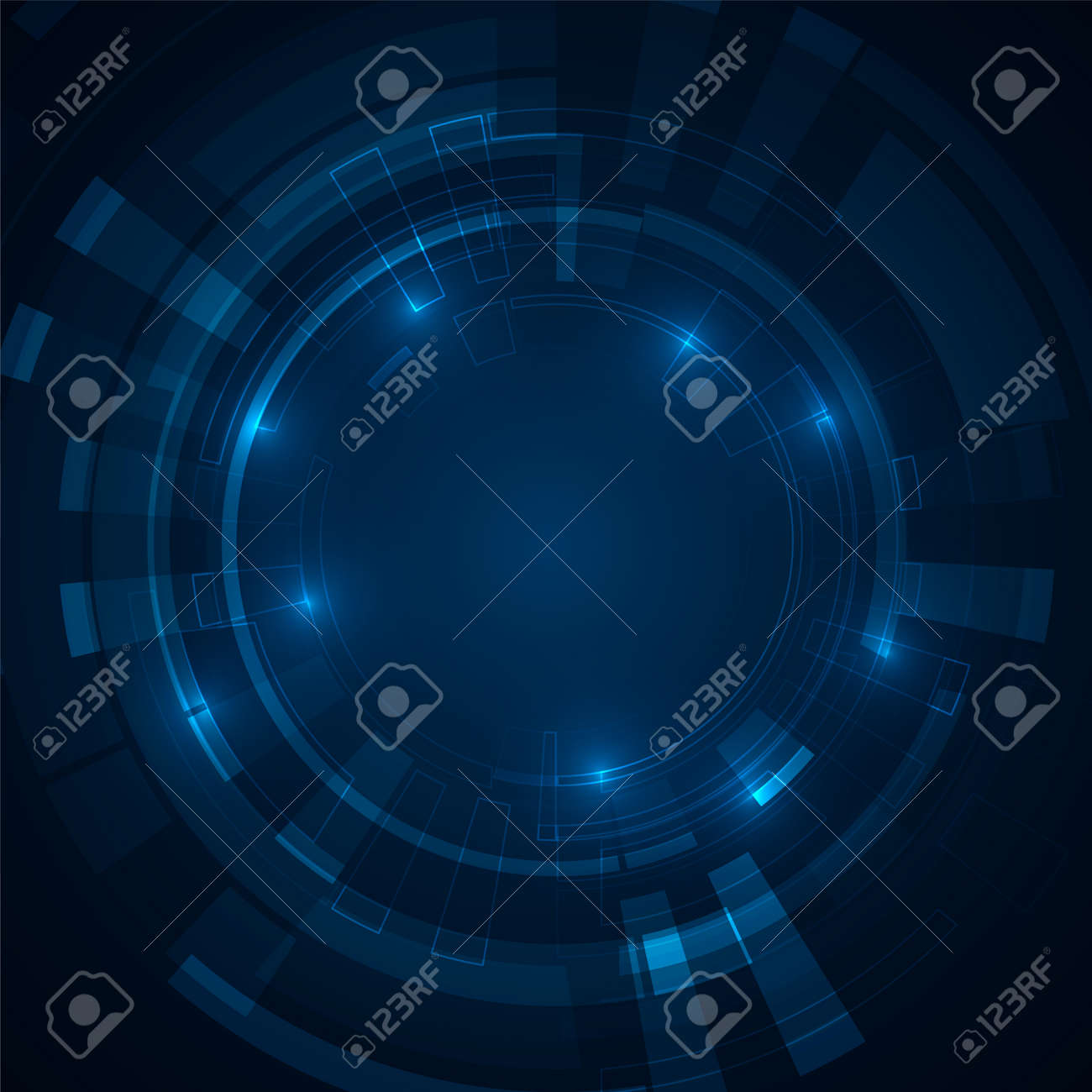 Abstract futuristic circles. Science technology machine. Graphic concept for your design - 166192021