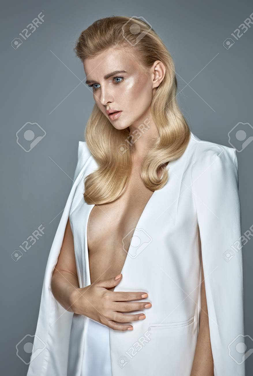 Pretty Young Lady With A Wavy Coiffure Stock Photo Picture And