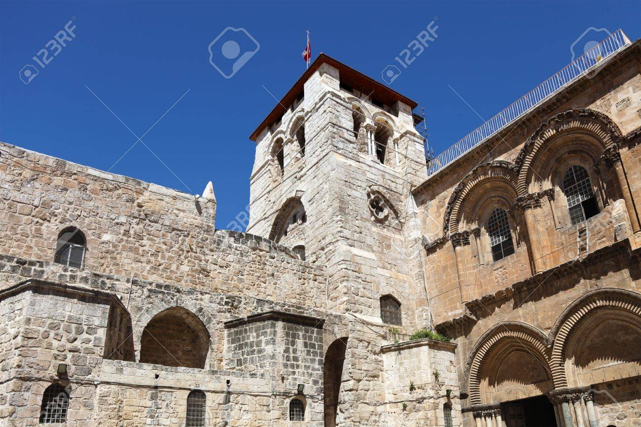 Church of the Holy Sepulchre on the Via Dolorosa in Jerusalem Stock Photo - 15937110
