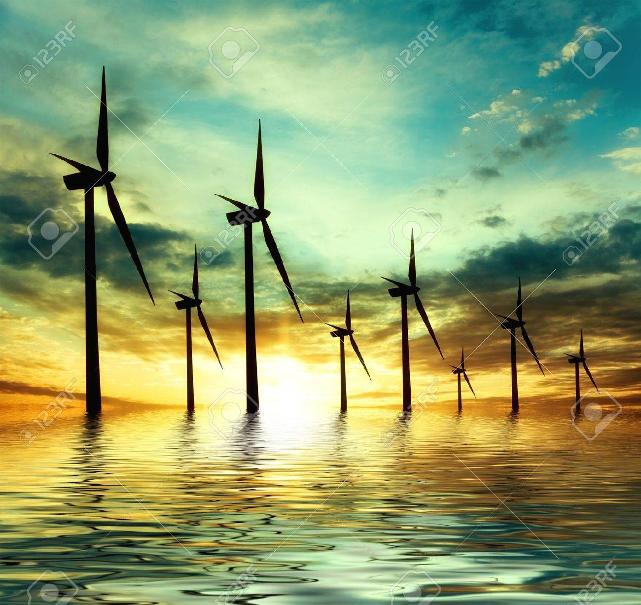 eco power, wind turbines - 16797215