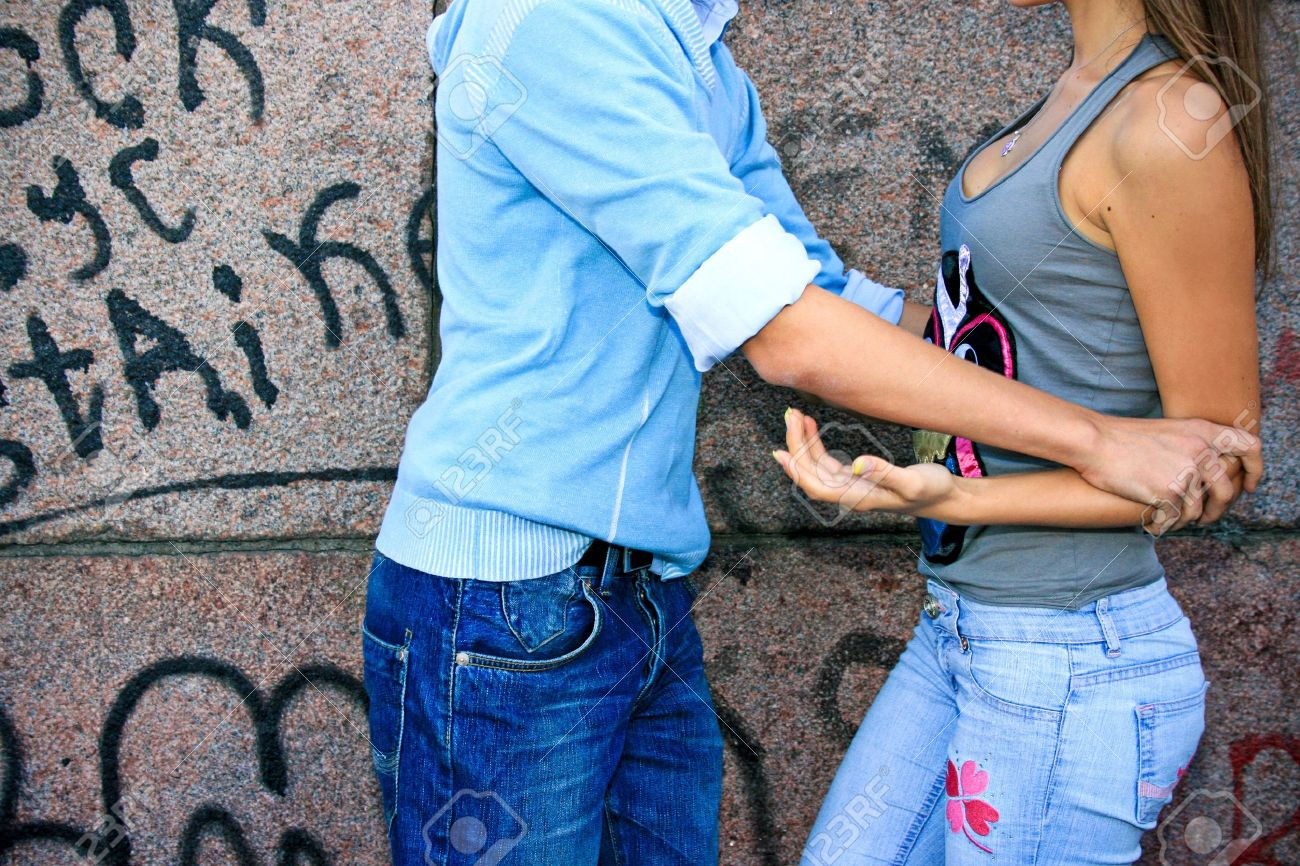 Couple of teenagers quarrels Stock Photo - 10936014