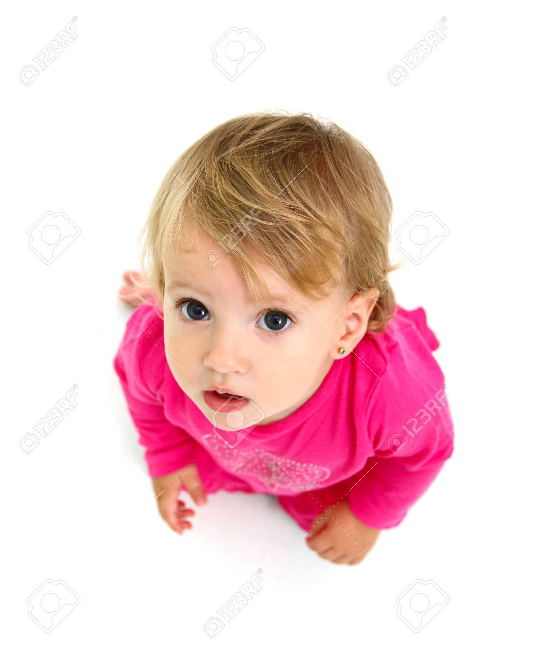 Portrait of a surprised little girl Stock Photo - 16126970