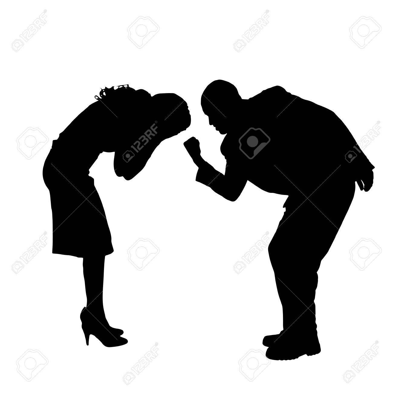 Resultado de imagen para pareja discutiendo silueta