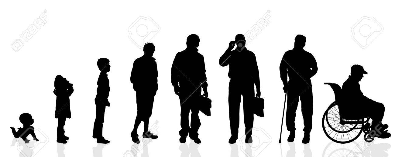 Vector silhouette generation men on a white background. - 35553683