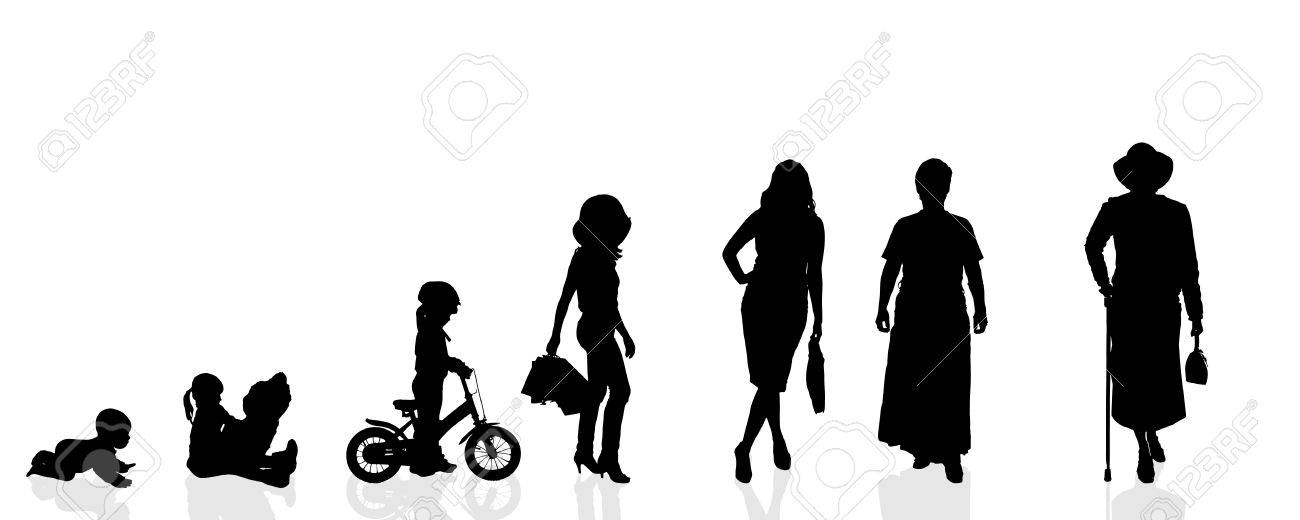 Vector silhouette generation women on a white background. - 35553712